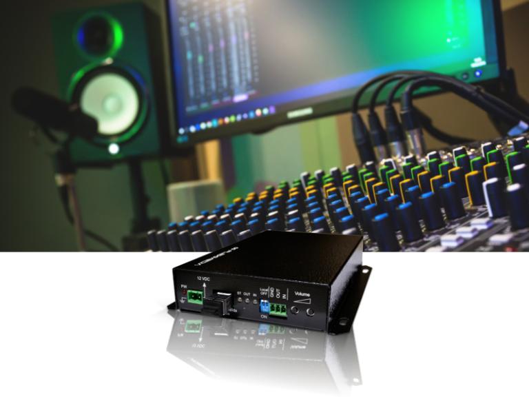 Conversor de áudio bidi e contato seco
