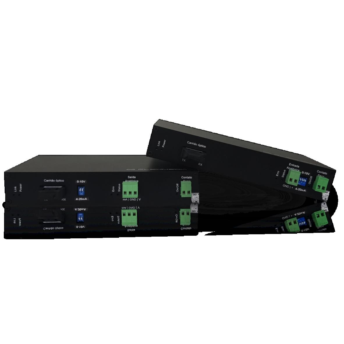 Conversor analógico 4 a 20mA – 0 a 10v para fibra