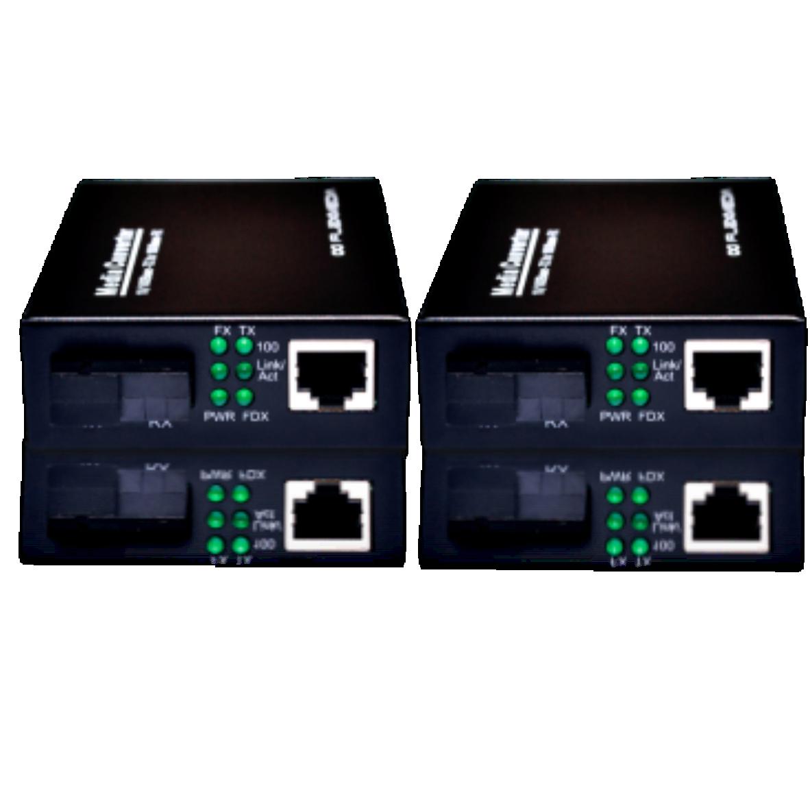 Conversor de fibra óptica ETHERNET 10/100 e 10/100/1000 – 1 ou 2 fibras