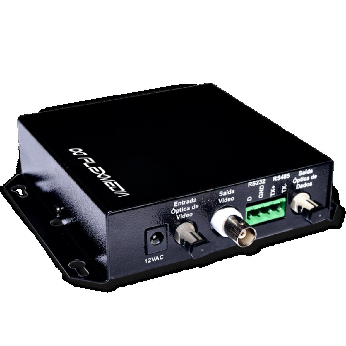 Conversor de vídeo e dados em duas fibras – Multimodo