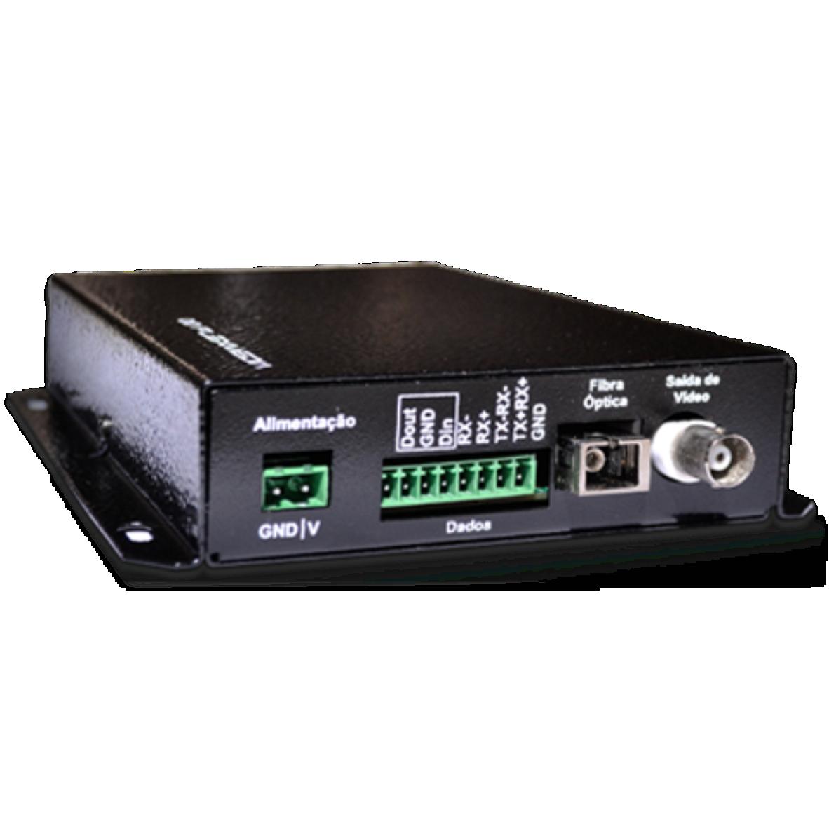Conversor digital de vídeo, dados e contato seco bidirecionais (1 CH)