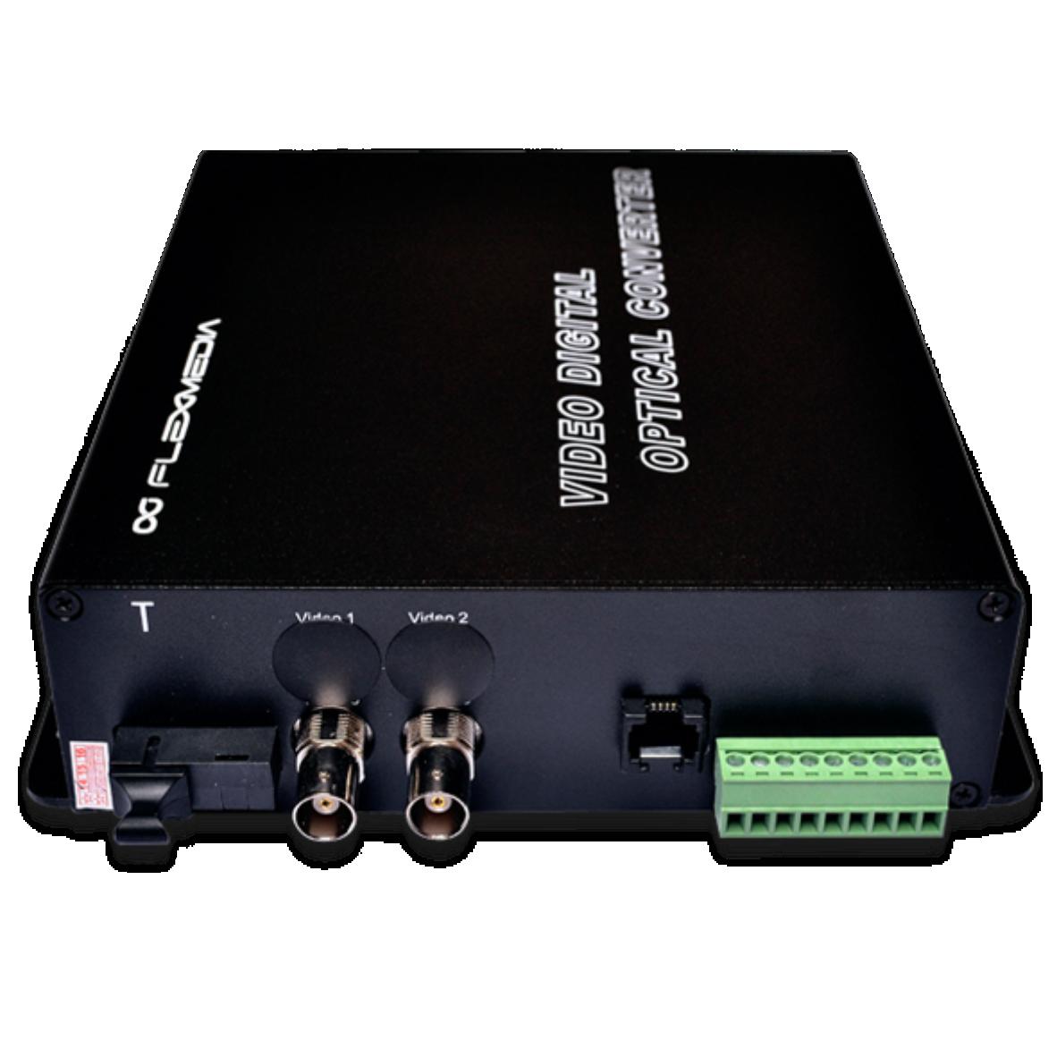 Conversor de fibra óptica de vídeo, dados e ETHERNET MONOMODO