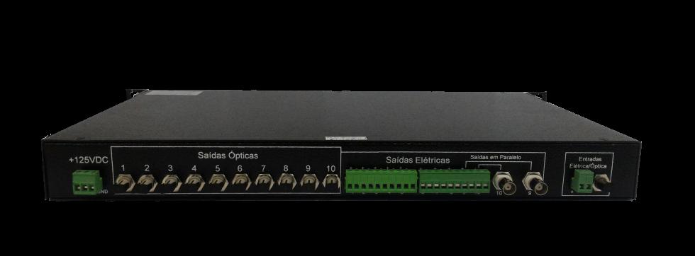 Distribuidor de sinais de tempo 10 saídas (irig-b)