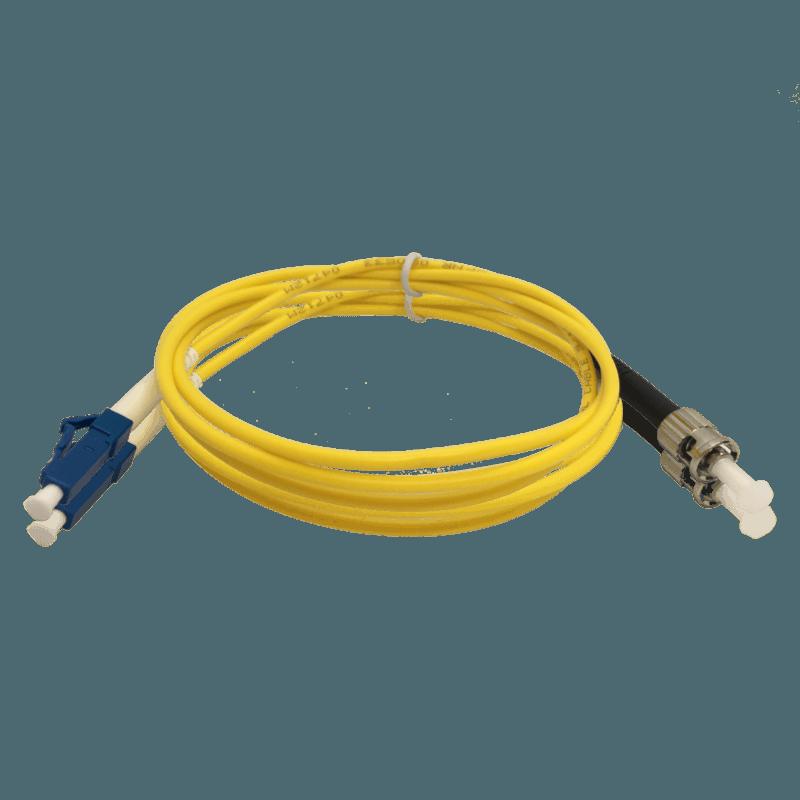 Cordão Óptico Monomodo LC/UPC – ST/UPC – Simplex