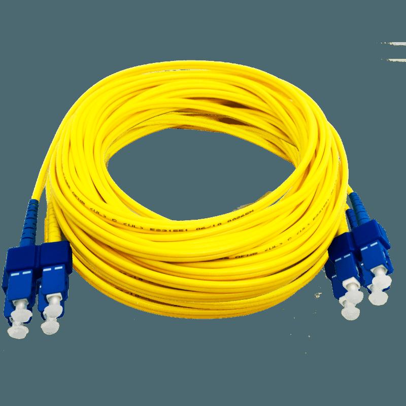 Cordão Óptico Monomodo SC/UPC – SC/UPC – Duplex