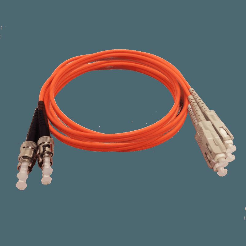Cordão Óptico Multímodo SC/UPC – ST/UPC – Duplex